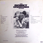 Donny Osmond Album (Back)